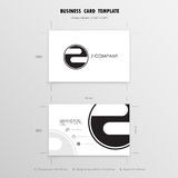 Business Cards Design Template. Name Cards Symbol. Size 55 mm x Royalty Free Stock Photography