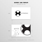 Business Cards Design Template. Name Cards Symbol. Size 55 mm x. 90 mm 2.165 in x 3.54 in.Vector illustration Stock Photography