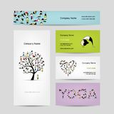 Business cards design, yoga tree Stock Image