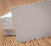 Business cards on desk Royalty Free Stock Photography