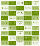 Business cards with ecology icons for your design Stock Image