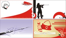 Business cards. Fashion and style. Vector illustration Stock Photo