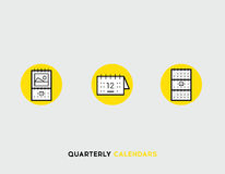Business cards flat illustration Set of line modern icons Royalty Free Stock Photos