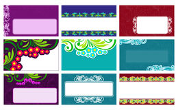Business cards with floral elements. Vector Stock Photo