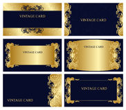 Business cards with floral elements. Vector Stock Images