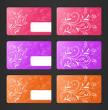 Business Cards with Floral Theme Royalty Free Stock Photography