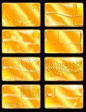 Business cards, gold (vector) Stock Images