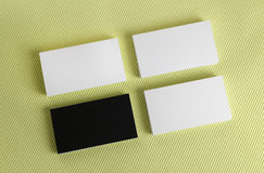 Business cards on a green background Royalty Free Stock Photo