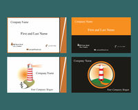 Business cards with headlight logo. Business cards with two different headlight logo vector illustration
