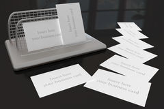 Business Cards Holder Royalty Free Stock Photos