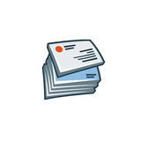 Business cards icon in cartoon style. Simplified isolated business cards icon in cartoon style. Print publishing icon series Royalty Free Stock Images