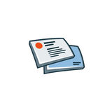 Business cards icon in cartoon style Royalty Free Stock Images