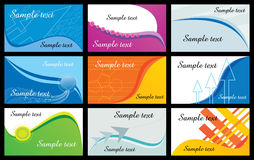 Business cards illustration. Corporate business card design collection Royalty Free Stock Image