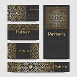 Business cards Islamic morocco ornament. Royalty Free Stock Images