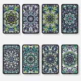 Business cards with kaleidoscope pattern Stock Photo