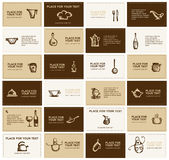 Business cards with kitchen utensils Stock Photo