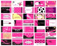 Business cards for ladies Stock Photography