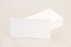 Business cards left. Side stacked Stock Photos