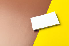 Business cards Mockup. On two color background Royalty Free Stock Image