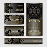 Business cards pattern Stock Photos
