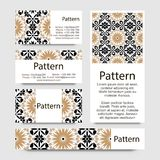 Business cards pattern with Islamic morocco ornament. Royalty Free Stock Photos