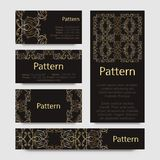Business cards pattern with Islamic morocco ornament. Royalty Free Stock Image