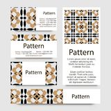 Business cards pattern with Islamic morocco ornament. Stock Images