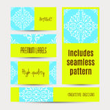 Business cards pattern with morocco ornament. Includes seamless pattern Royalty Free Stock Photography