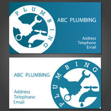 Business cards for plumbers Royalty Free Stock Photography