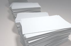 Business cards. Rendered illustration of white blank business cards royalty free illustration