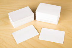Business cards with rounded corners Stock Images