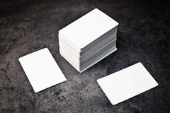 Business cards with rounded corners Royalty Free Stock Photo