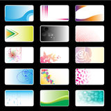 Business Cards Set. Set of Business cards templates set Royalty Free Stock Photos