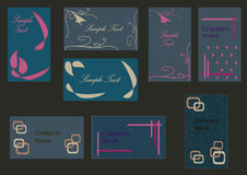 Business Cards set stock illustration