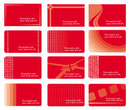 Business cards set Royalty Free Stock Photo