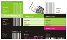 Business Cards Set vector illustration