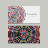 Business cards set, abstract circles design Stock Photography