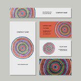 Business cards set, abstract circles design Stock Photo
