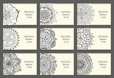 Business Cards set with abstract pattern Royalty Free Stock Images