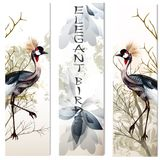 Business cards set with birds