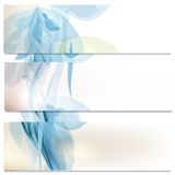 Business cards set in blue color Stock Photography