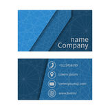 Business cards set. Business card with abstract background of lines. Business cards set. Space for company name, address, phone, email. Visit card blank Royalty Free Stock Images