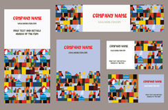 Business cards set with city or town Stock Photography
