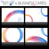 Business Cards Set. Colorful Royalty Free Stock Photography