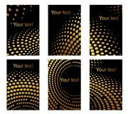 Business cards set with golden dots Royalty Free Stock Photos