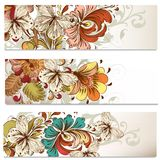 Business cards set with swirls for design Stock Images