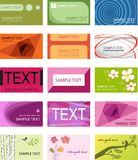 Business cards set template Stock Photos