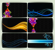 Business cards set Royalty Free Stock Image