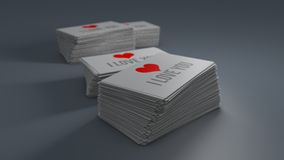 Business cards  with soft shadow. 3D illustration Royalty Free Stock Photos