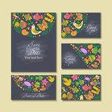 Business cards with summer theme Stock Photos